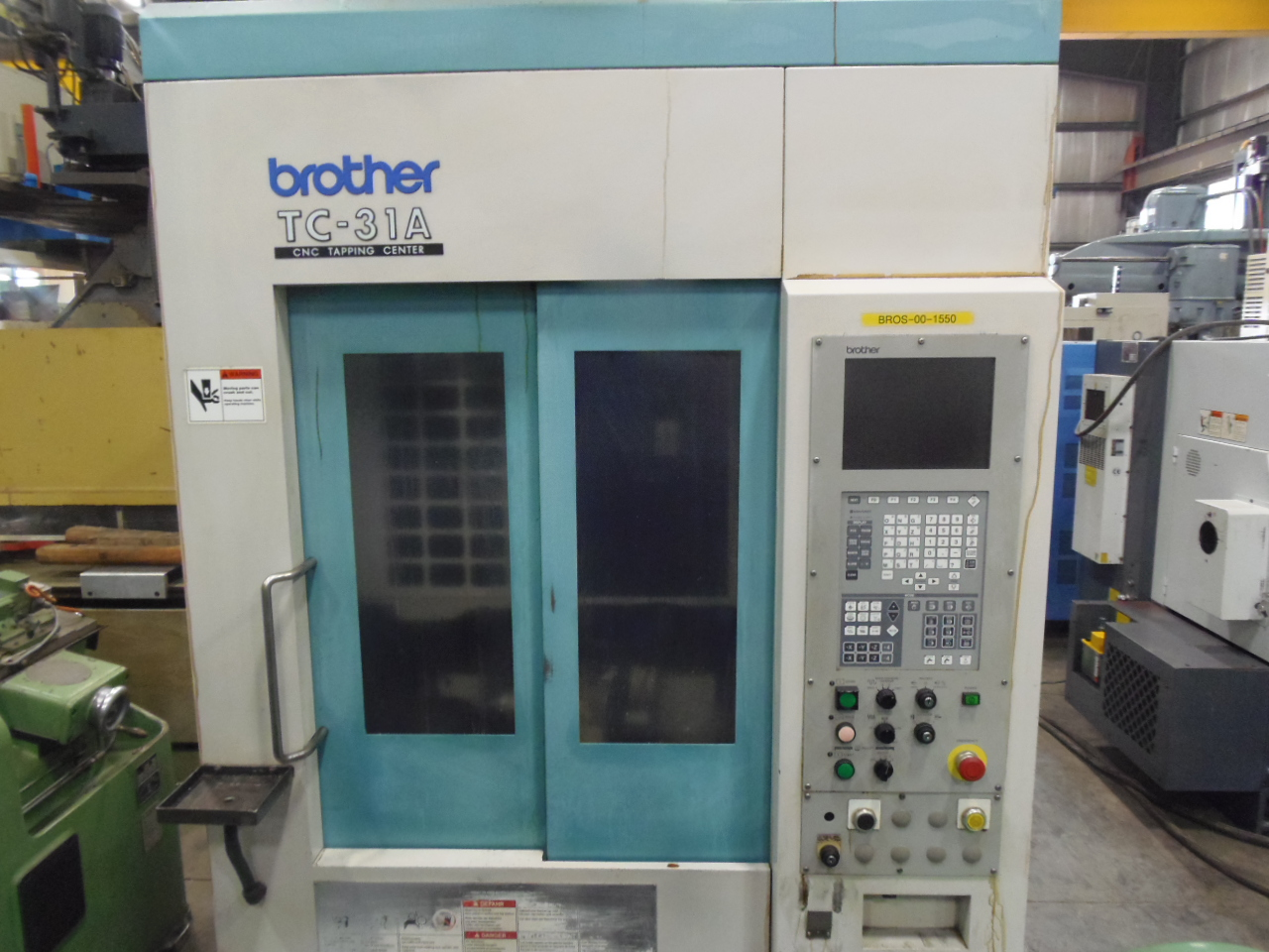 "BROTHER TC-31A DRILL AND TAP MACHINE, 14"" x 10"" x 14"" TRAVELS, 16000 RPM, 2 YUKIWA INDEX ROTARY TABLES, 1998"