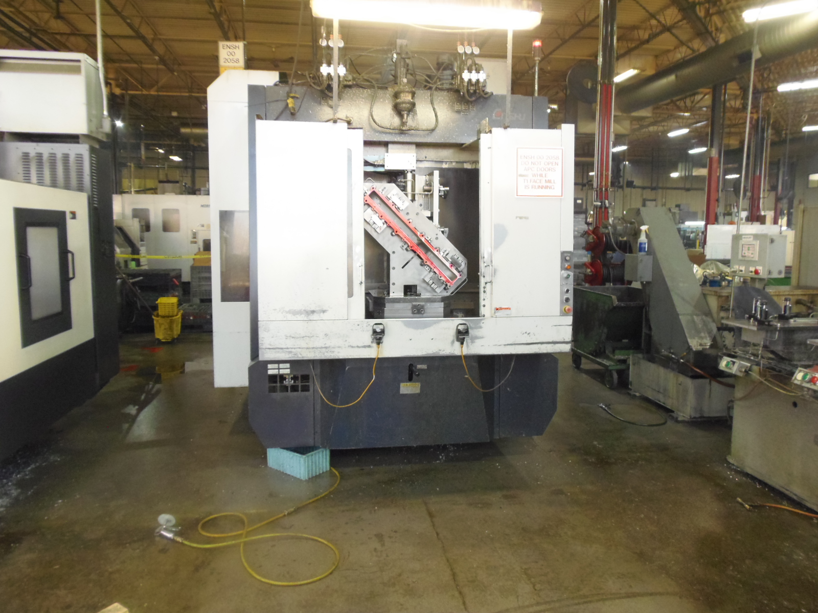 "ENSHU JE80S, 2006, 20"" PALLETS, TSC, 18iMB CONTROL, 31 X 31 X 31 TRAVELS, BT-40 TAPER, 15,000 RPM, HYD. FIXTURE INTERFACE"