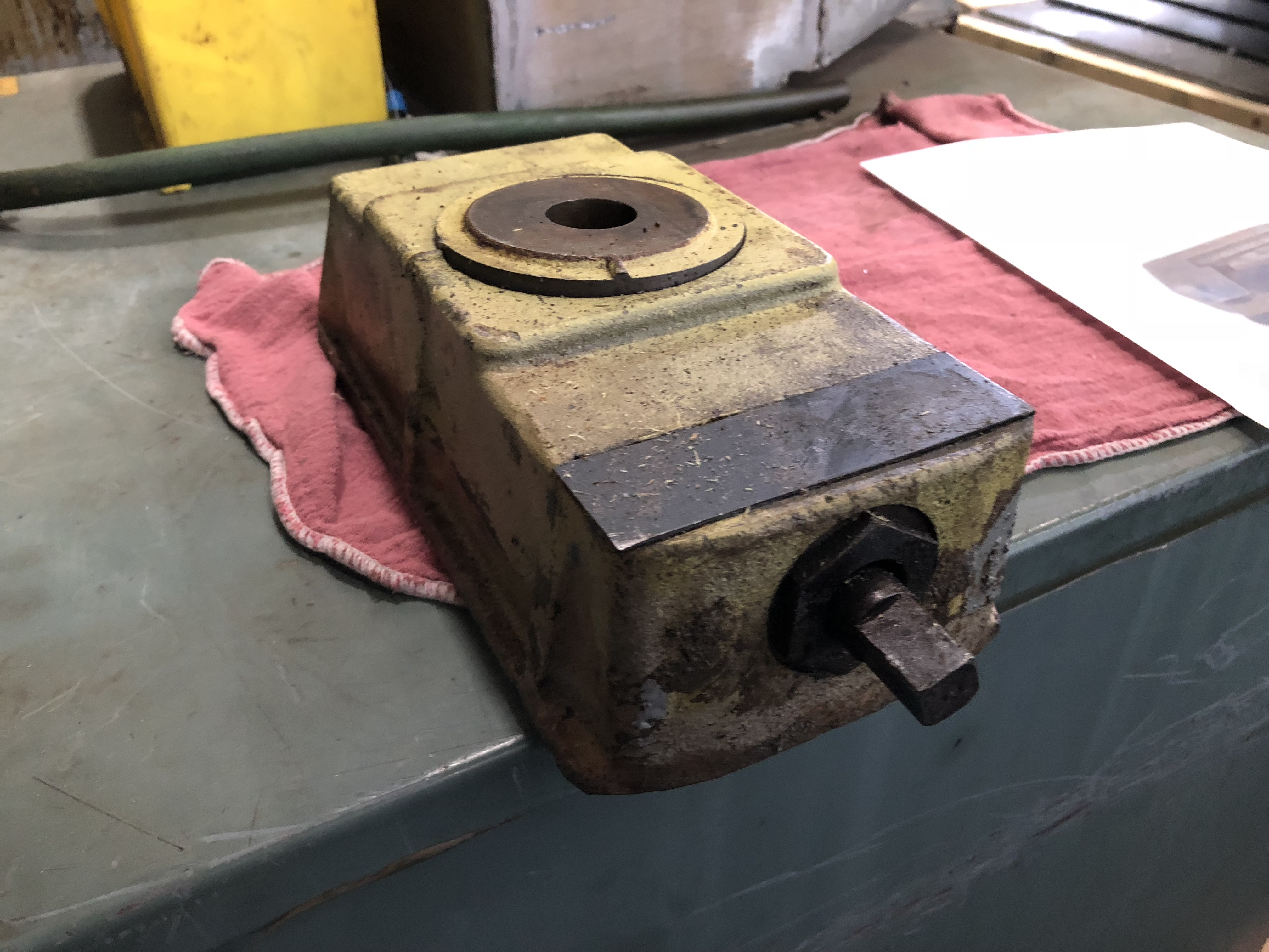 "SCREW TYPE LEVELING BLOCK, 10"" X 5"" X 3.5 TO 3 5/8"" HEIGHT, 10 AVAILABLE"