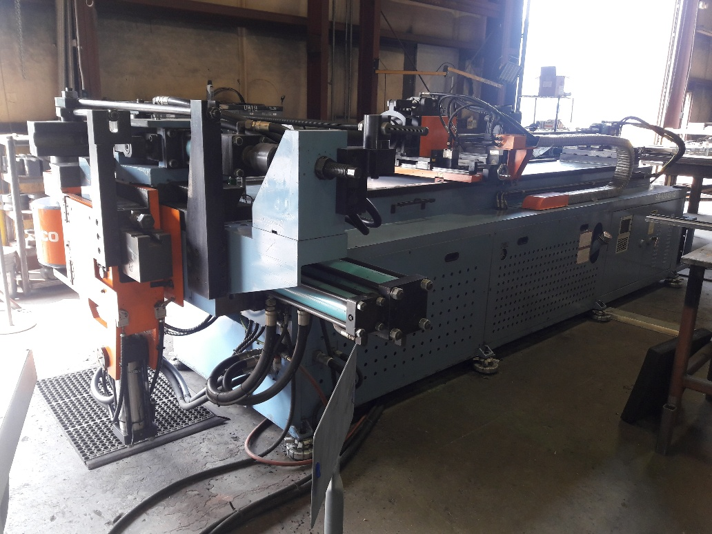 "3.5"" SOCO CNC TUBE BENDER, NEW 2001, LOTS OF TOOLING, RUNNING IN PLANT"