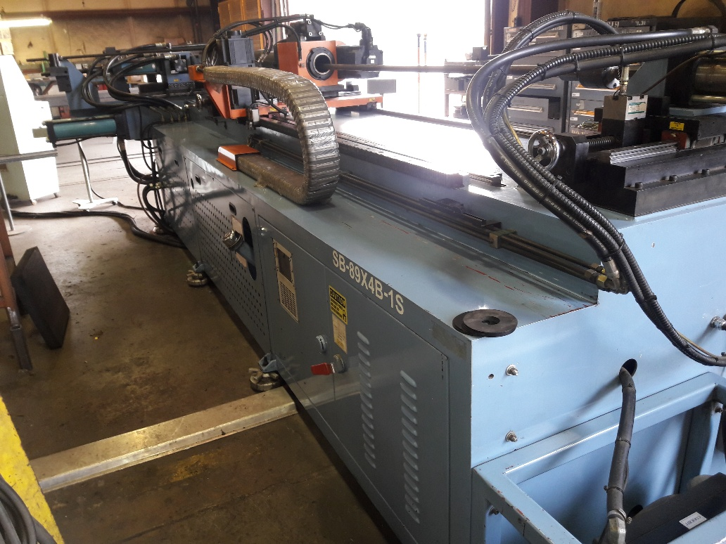 """3.5"""" SOCO CNC TUBE BENDER, NEW 2001, LOTS OF TOOLING, RUNNING IN PLANT"""
