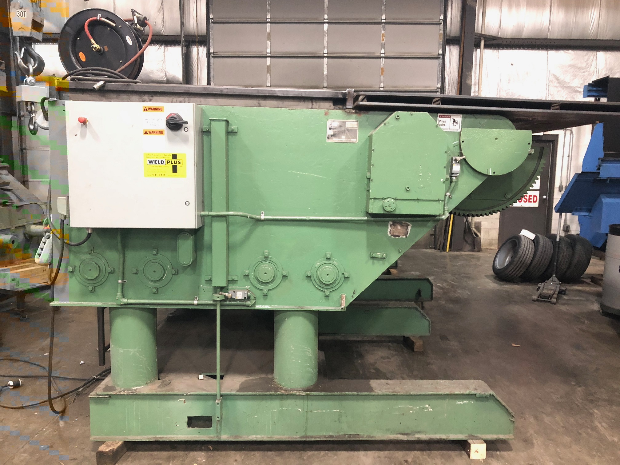 25,000 ARONSON GE-250, REBUILT 2017, 60 X 84 TABLE, POWER TILT, POWER ELEVATION, PENDANT CONTROL