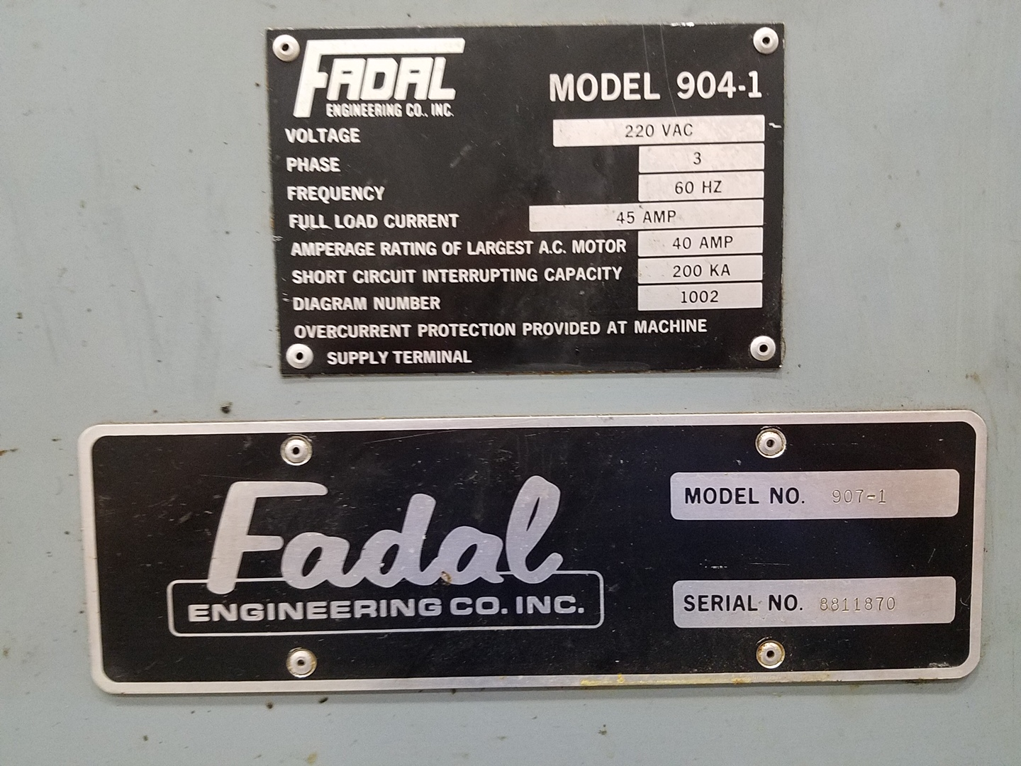 "FADAL 6030 (907-1), 30"" X 60"" TRAVELS, HEC 88S CONTROL, NICE OUT OF MACHINE TOOL BUILDERS SHOP"