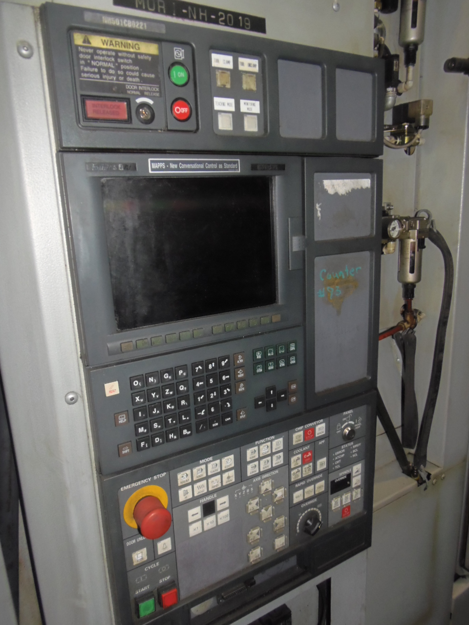 NH5000/40 MORI SEIKI, 2003, WITH COOLANT SYSTEM, 1 DEGREE, MSC501, 60 ATC, 40 TAPER, 2 PALLET, 14,000 RPM
