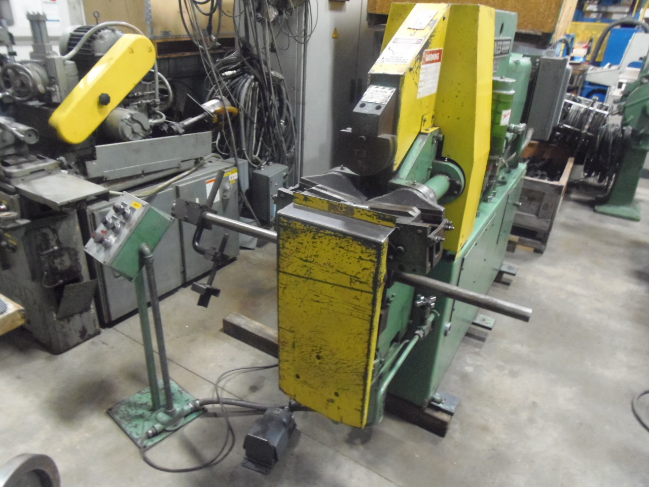 "PINES 3T VERTICAL TUBE BENDER, 3 TON, 1"" OD x .065"" WALL, 3.5"" MAX CLR, 1974"