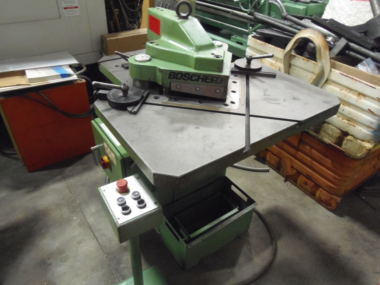 ".156 X 8.875"" X 8.875"" BOSCHERT NOTCHER, MODEL LB14, HYDRAULIC, COPING ATTACHMENT, 1996"