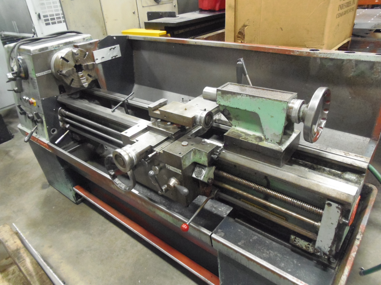"""CLAUSING COLCHESTER 15 ENGINE LATHE, 15"""" X 50"""" CENTERS, 2000 RPM, INCH/METRIC THREADING, 10"""" 4 JAW CHUCK,"""