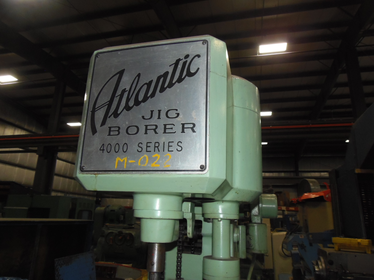 "ATLANTIC JIG BORER 4000 SERIES, 18"" x 12"" TABLE, 4"" QUILL STROKE, ANILAM DRO, 1968"