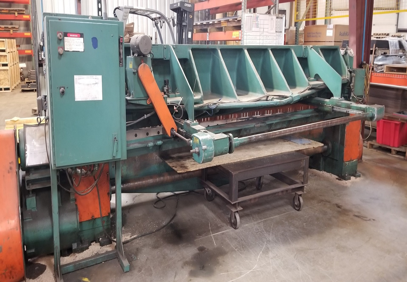 "1/4"" x 12' WYSONG, MODEL 1225, CNC FRONT AND REAR BACKGAUGING, 1984"