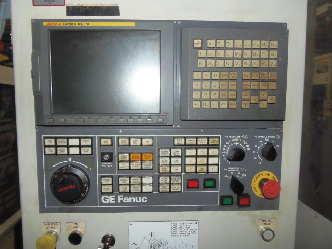LIEBHERR 5 AXIS GEAR HOB, MODEL LC-255, FANUC 18i-MA, REBUILT/RETROFIT 2006,