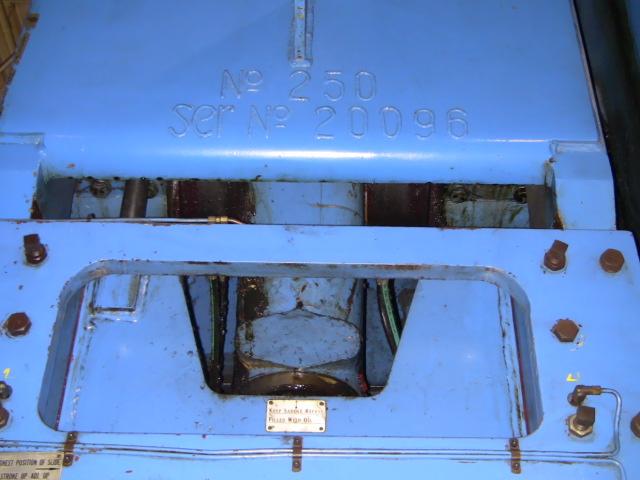 "250 TON VERSON 12F-O.B.G. PR, 10"" ST., 26"" S.H., 5"" ADJ., 36"" X 62"" BED, 30 SPM,"