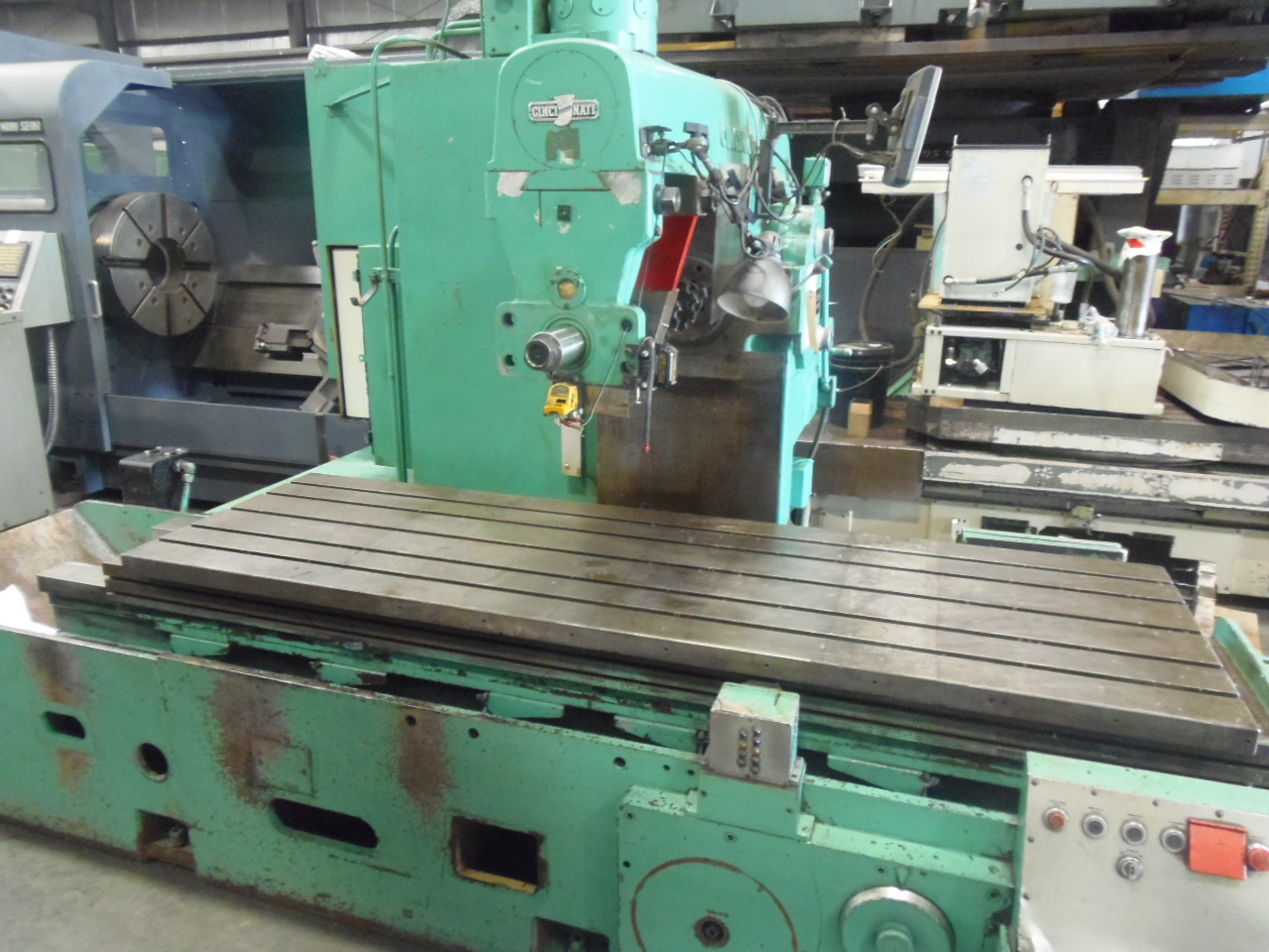 "530-266 CINCINNATI. SIMPLEX PRODUCTION MILL, 30"" X 96"" TABLE, TOOLING, DIGITAL READOUT"