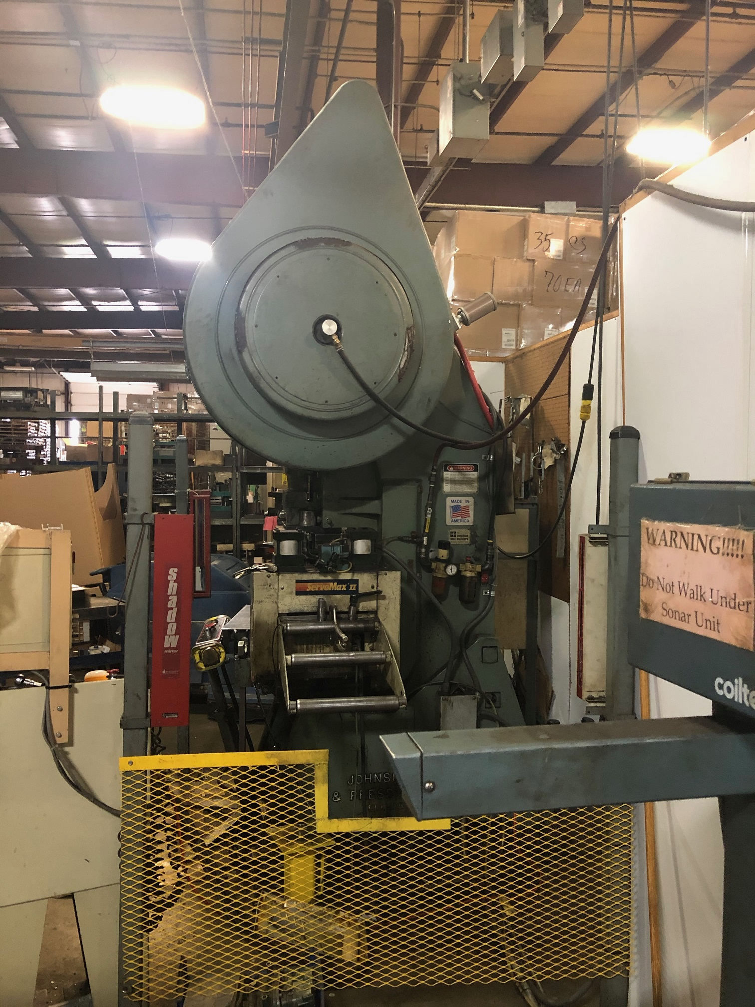 "60 TON JOHNSON, 3"" STROKE, 10 - 75 SPM, WINTRESS CONTROLS,  12"" SERVO FEED LINE"