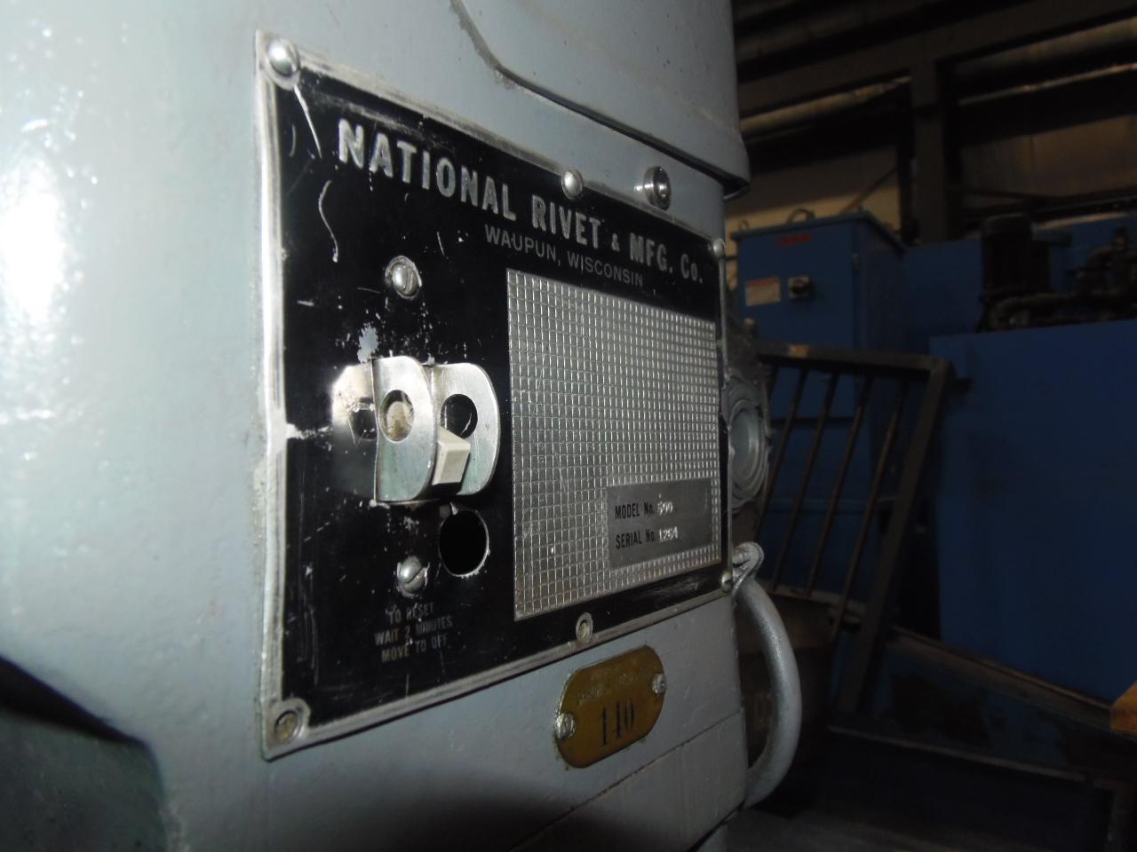 """NATIONAL RIVETER, MODEL 500, 2 3/8"""" STR., TOUCHOMATIC"""