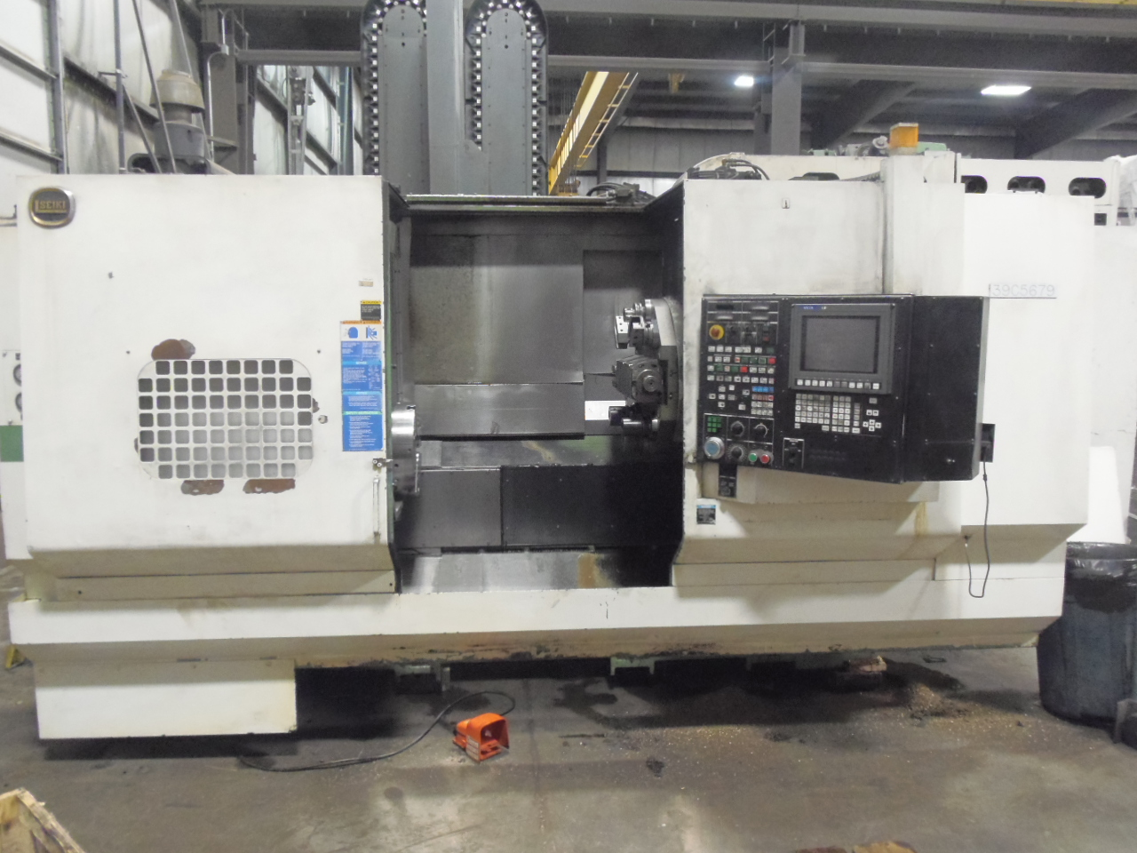 "HITACHI SEIKI HICELL 40, LIVE TOOLING, Y AXIS, 90 ATC, 60"" (1600 MM) CENTERS, 15"" 3 JAW, SEIKI-SEICOS LIII/A CONTROL, TOOLING"