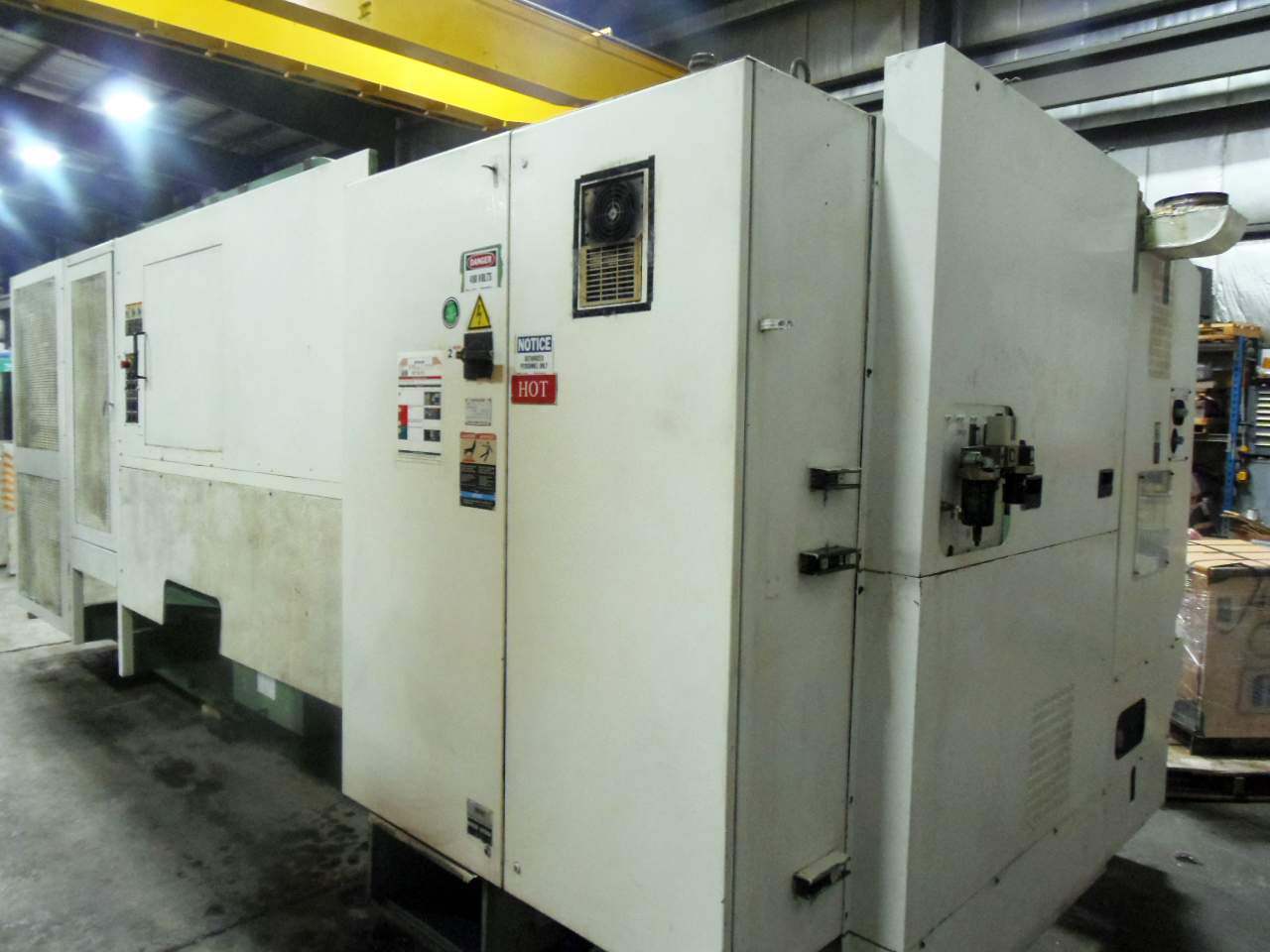 """HITACHI SEIKI HICELL 40, LIVE TOOLING, Y AXIS, 90 ATC, 60"""" (1600 MM) CENTERS, 15"""" 3 JAW, SEIKI-SEICOS LIII/A CONTROL, TOOLING"""