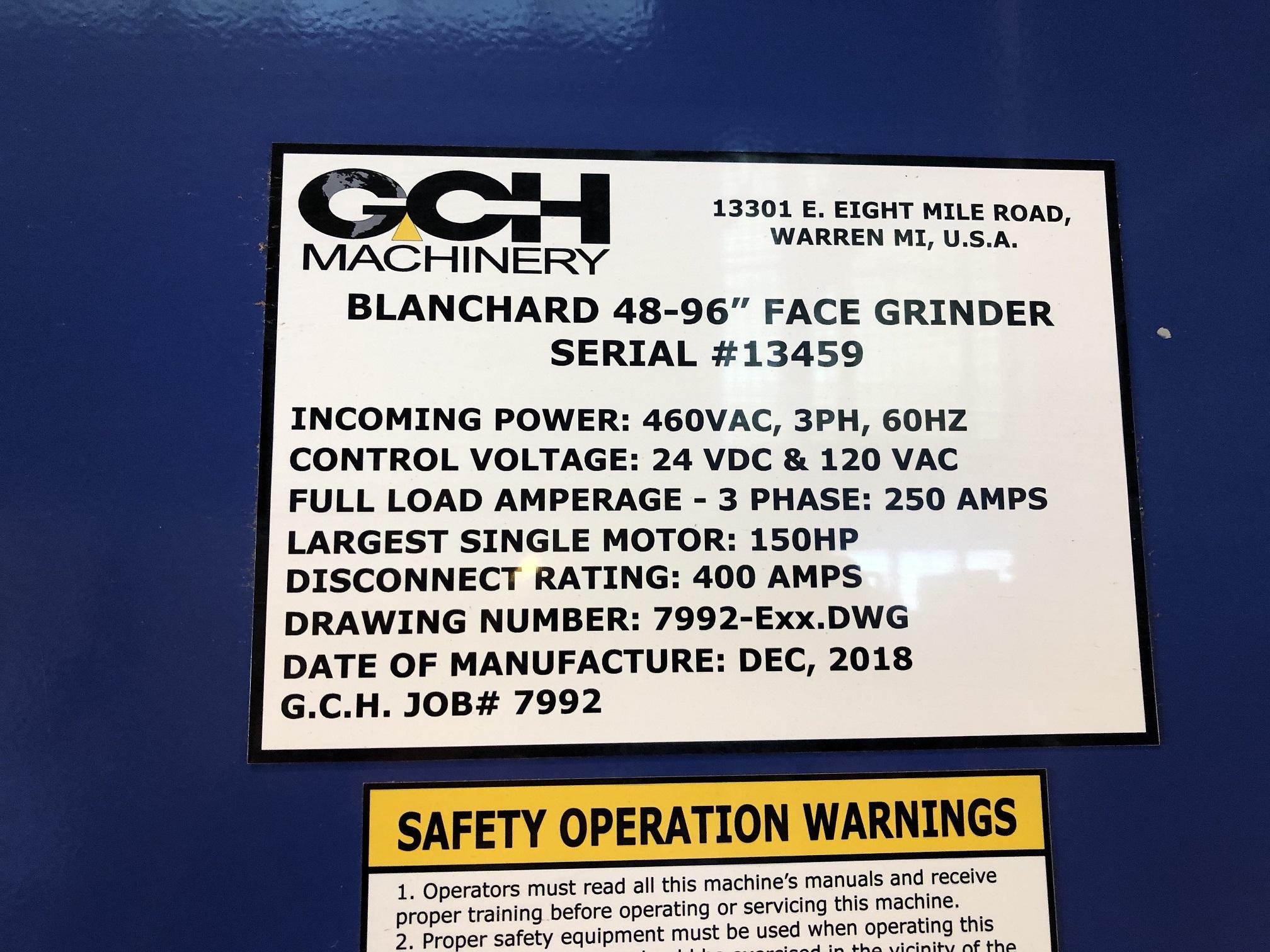"96"" BLANCHARD, 54"" WHEEL, RECONDITIONED 2018, 150 HP, UNDER POWER"