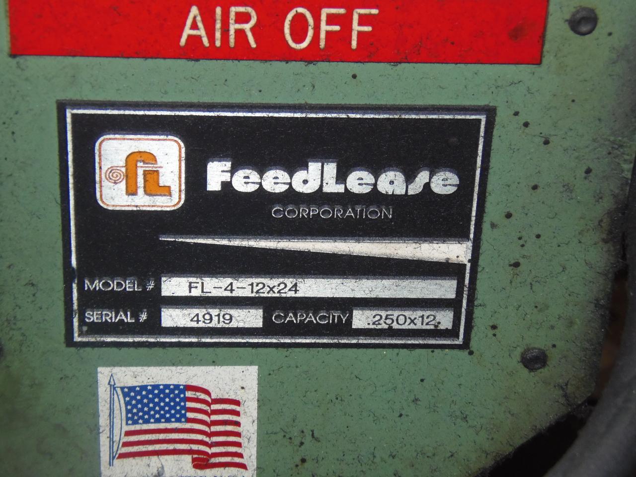 """.250 X 12"""" FEED LEASE AIR FEEDER, MODEL FL-4-12X 24, FEED LENGTH 24"""""""