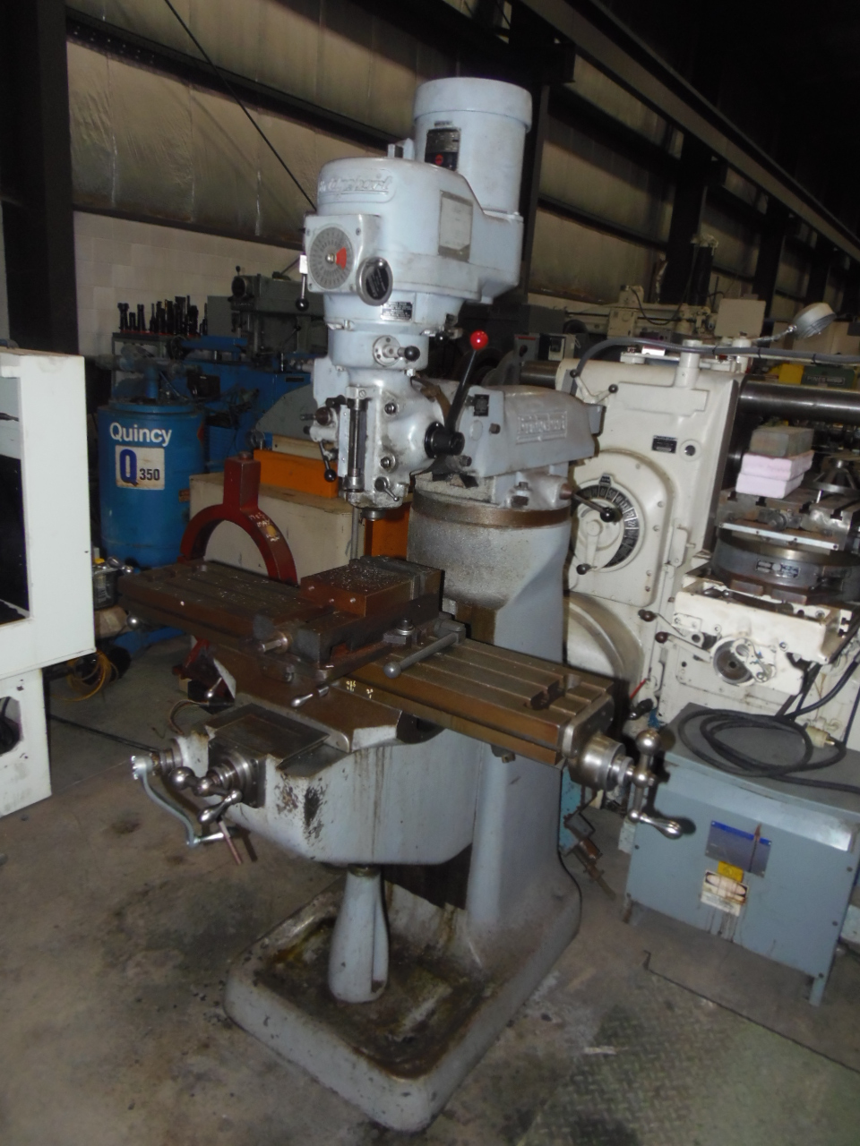 BRIDGEPORT SERIES I VERTICAL MILL, VARIABLE SPEED HEAD, 9 x 42 TABLE, COLLETS