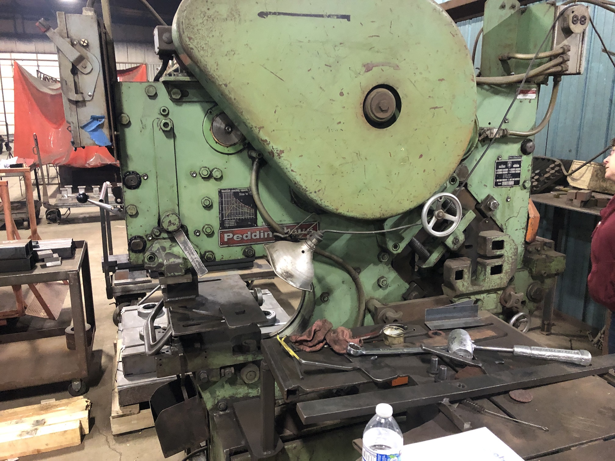 72 TON PEDDINGHAUS, MODEL 210A/16, PUNCH, SHEAR, BAR, ANGLE, COPING, NOTCHING, AND PRESS.