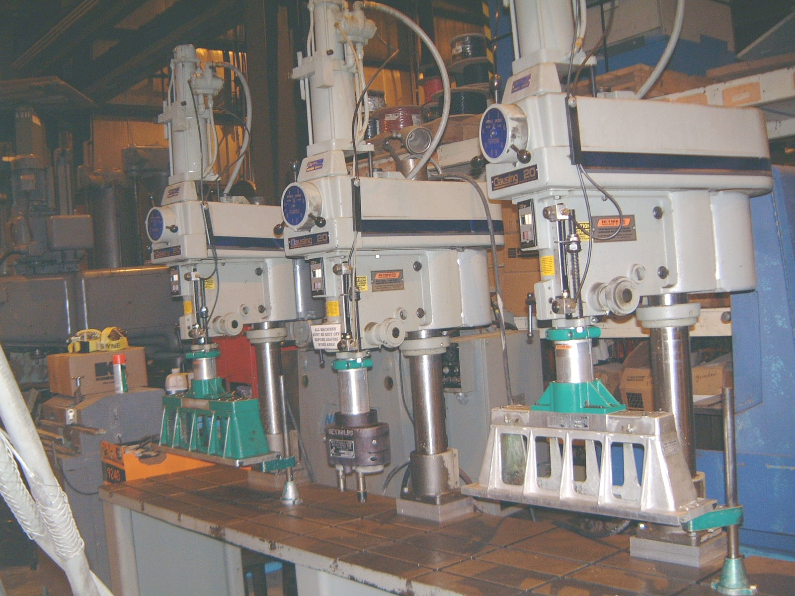 "3 SPDL, CLAUSING #2284, 2.5"" QUILL DIA., #3MT SPDL, 1.5 HP, 6.5"" SPDL TRVL, 20"" THROAT, POWER DOWN FEED, 1999"