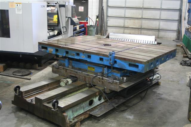 "72"" x 108"" GIDDING & LEWIS HYDROSTATIC, 72"" CNC CONTROLLED 3 WAY CROSS SLIDE, 40,000 LB. PART CAP., NEW 1993"