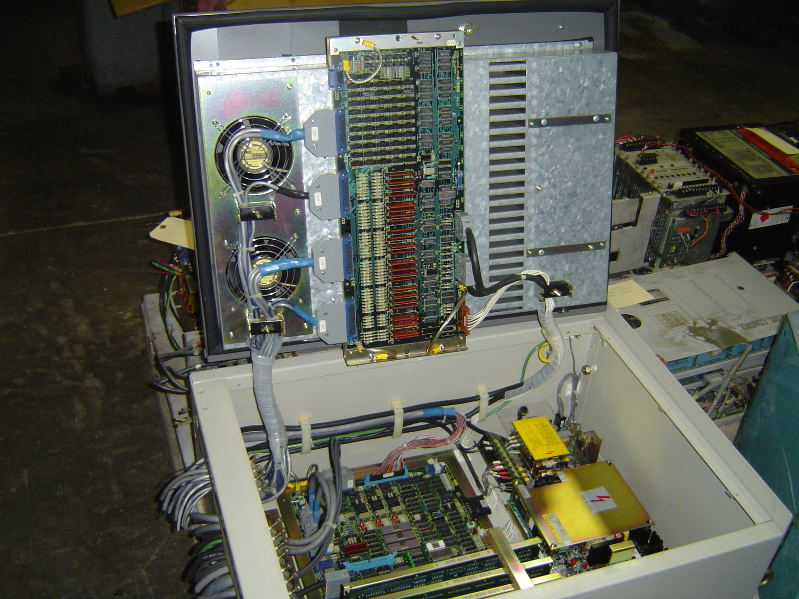 FANUC CONTROL.  POWER SUPPLY, MOTHERBOARD, RELAYS, MEMORY