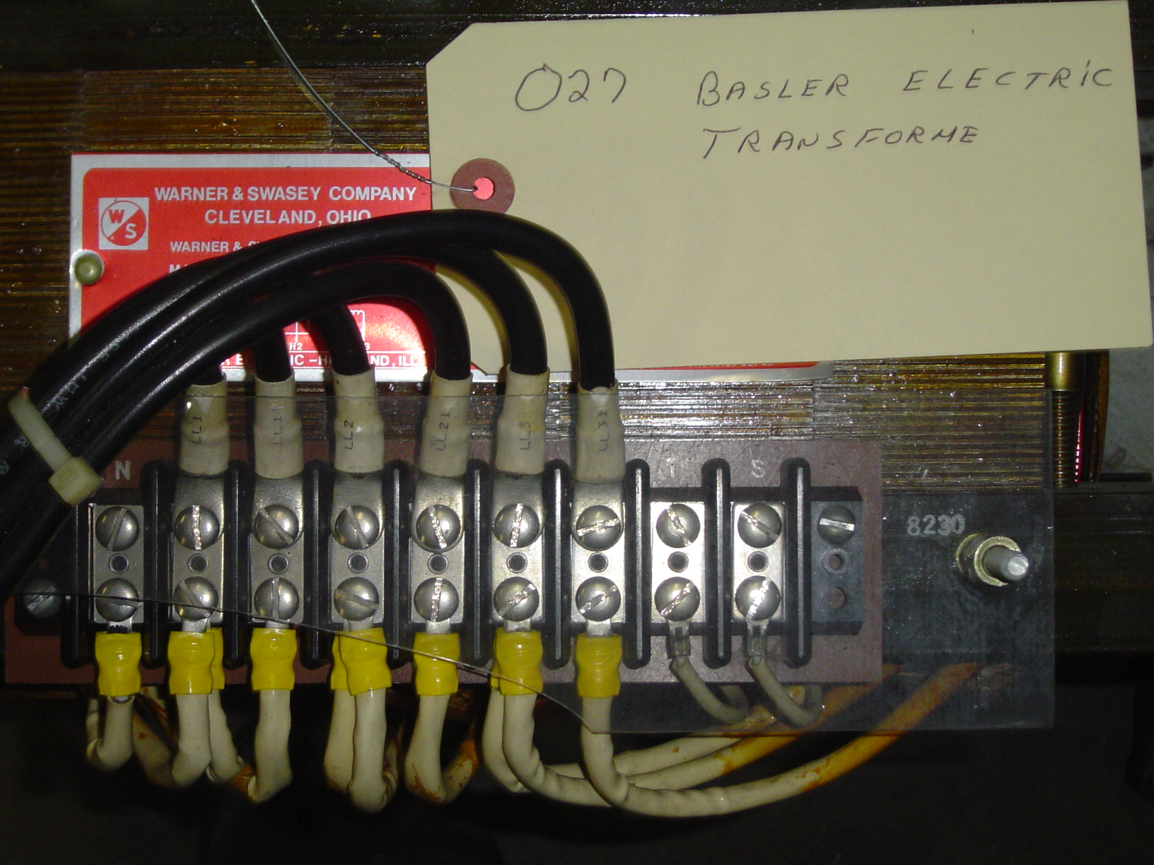 TRANSFORMER FOR WARNER AND SWASEY P/N 8934-5450