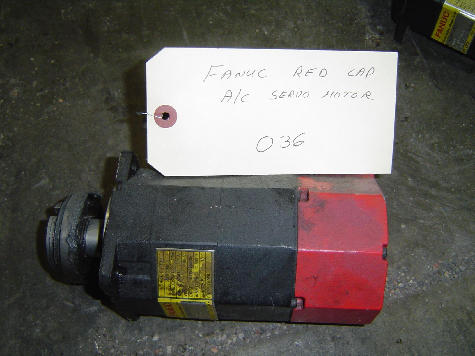 FANUC RED CAP AC SERVO MOTOR TYPE A06B-0521-B001