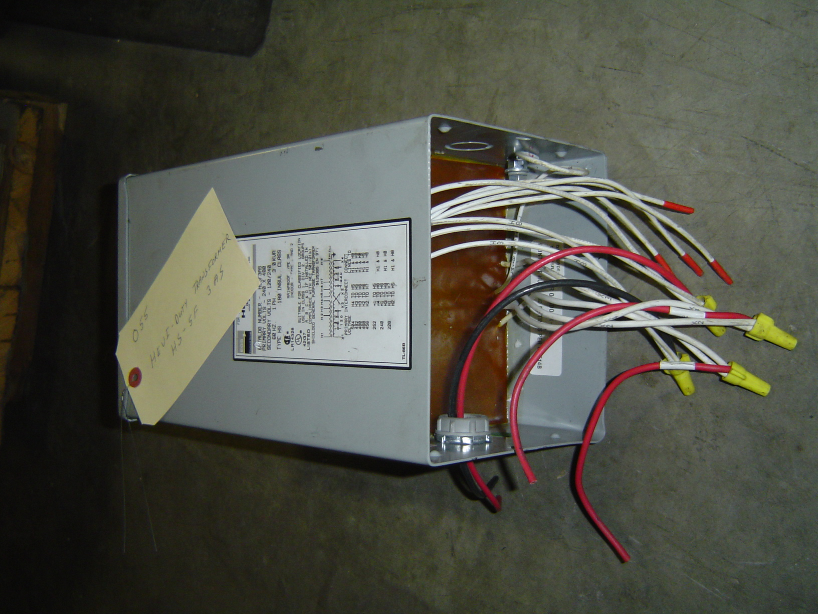 HEVI - DUTY TRANSFORMER, CATALOG NUMBER HS1F 1BS