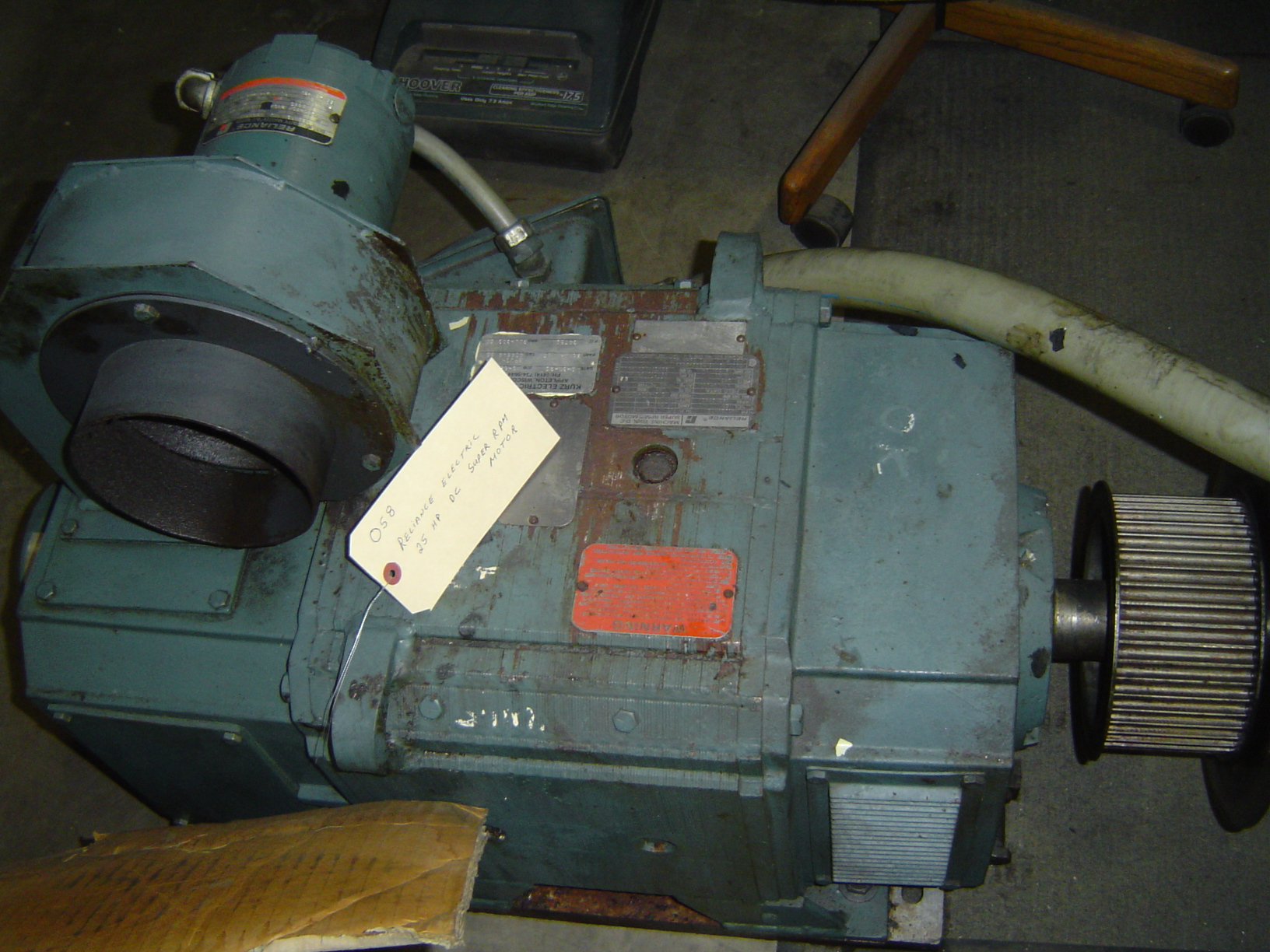 RELIANCE ELECTRIC SUPER RPM MOTOR, 25 HP DC