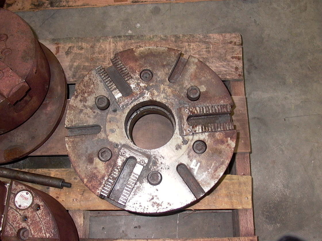 "14"" CUSHMAN 3 JAW POWER CHUCK, MODEL 817, 14"", 4"" HOLE, AND CUSHMAN HYDRAULIC ACTUATER, MDL 4D"