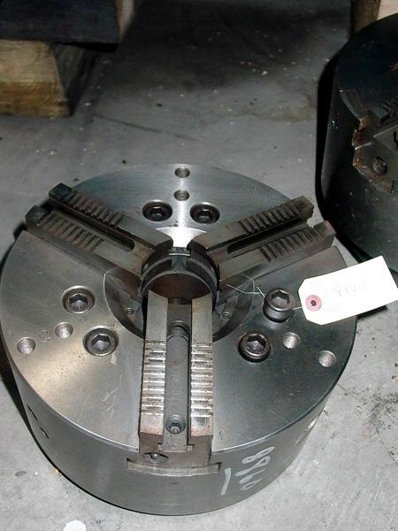 12 INCH CUSHMAN HYDRAULIC POWER CHUCK, 3 JAW, 10-590-12-A08C, V-8