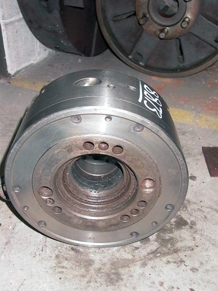 12 INCH 3-JAW CUSHMAN POWER CHUCK, MDL: 12-590-12-A08A