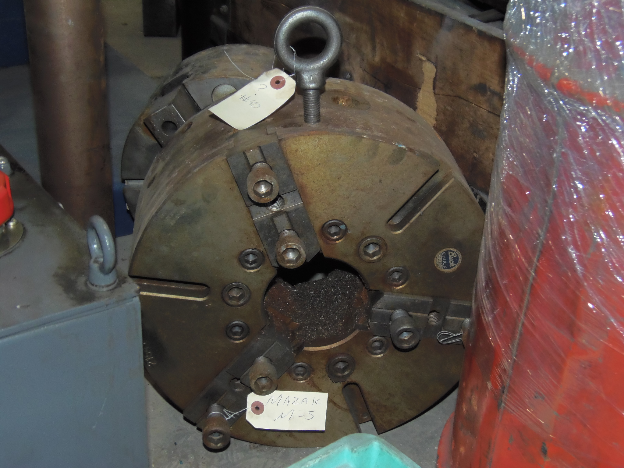 15 INCH BUCK 3 JAW CHUCK, CAME OFF OF MAZAK M-5