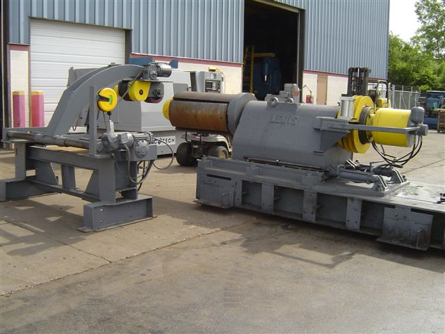 "20,000 LB, LEWIS UNCOILER,  48"" WIDTH, HYDRAULIC EXPANSION, SLIDE BASE, POWERED, 18"" -24"" WITH FILLER PLATES"