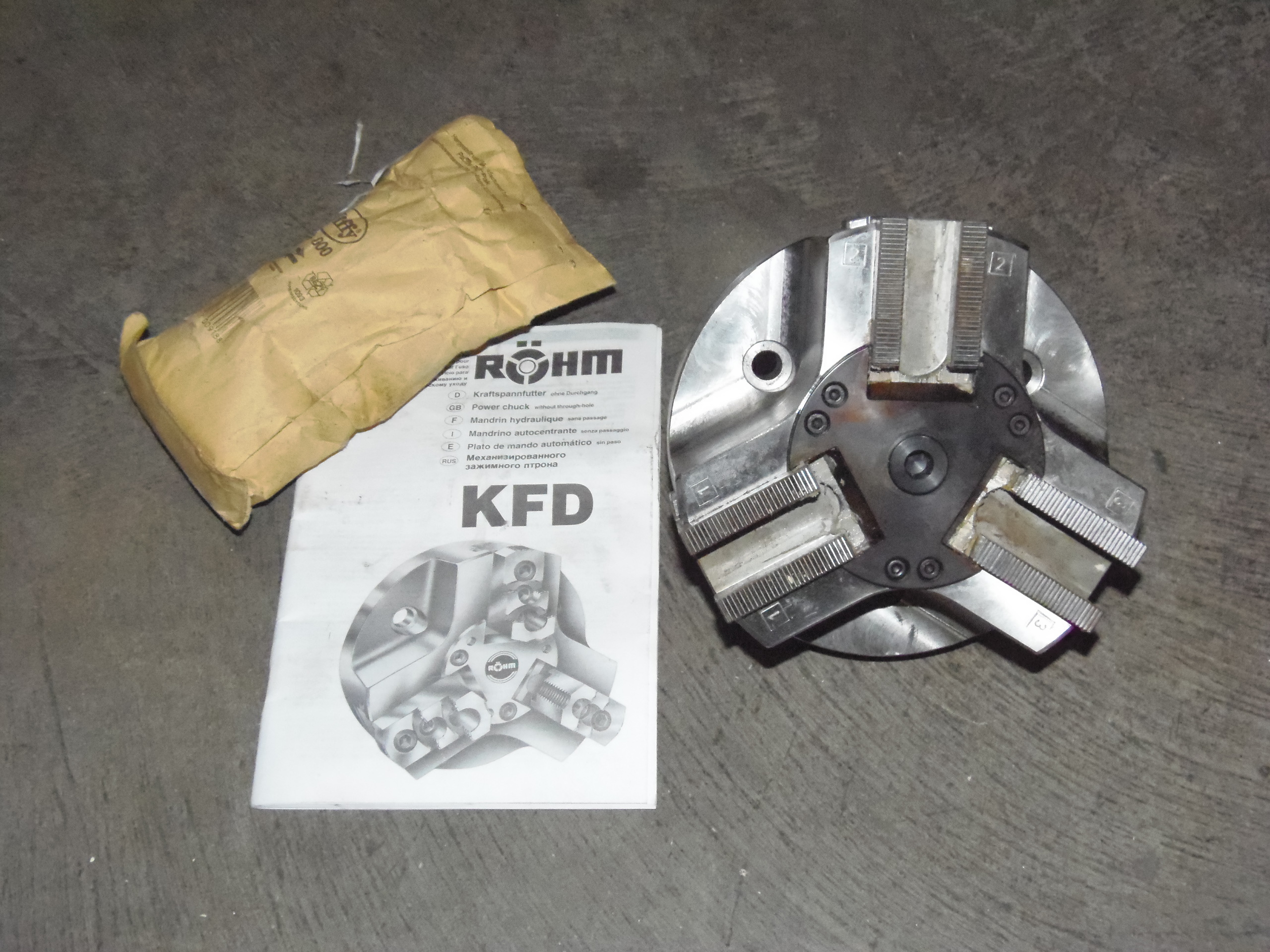 "6.5"" UNUSED ROHM, KFD, ITEM 46730, 3 JAW POWER CHUCK"