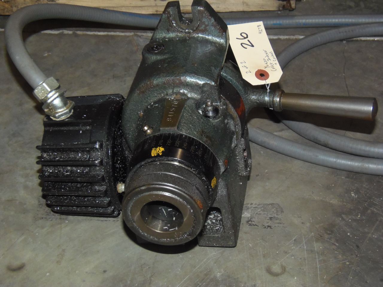 YUASA COLLET STYLE INDEXER, CONTROL INCLUDED
