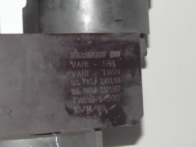 VALENITE TWBB-5-500 VARI-TWIN BORING HEAD, CAT 50