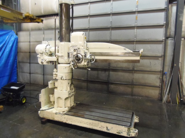 "5' X 11"" CARLTON 1A RADIAL DRILL, 18"" RISER, TAPPING, POWER FEEDS,"