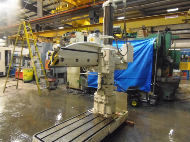 """5' X 11"""" CARLTON 1A RADIAL DRILL, 18"""" RISER, TAPPING, POWER FEEDS,"""
