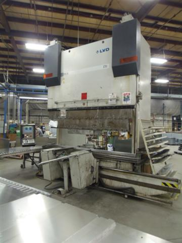 "187 TON LVD PPEB 170/30 9 AXIS PRESS BRAKE, 120"" O.A., 102"" BET., 23.6"" STR., 23.6"" S.H., 47"" OPEN HEIGHT, FILLER PLATE FOR NORMAL PART OPERATION, SHEET FOLLOWERS, FLUSH FLOOR, 2001"