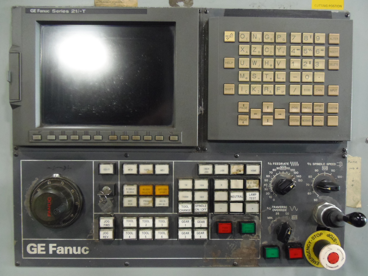 "MORI SEIKI SL-8, 80/98, FANUC 21iT CONTROL, 39.3"" SWING, 32"" 4 JAW CHUCK, 43"" Z, 10.25"" HOLE, 4 - 553 RPM"