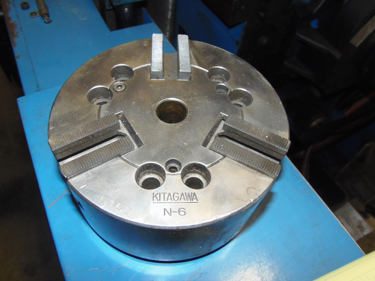 6 INCH KITAGAWA MODEL N6 3 JAW POWER CHUCK.
