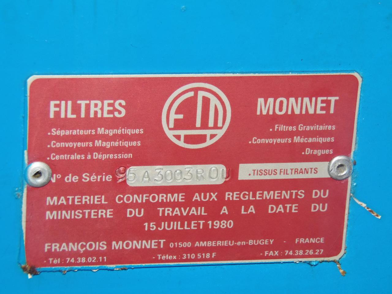 MONNET PAPER FILTRATION SYSTEM W/ MOUVEX CHILLER