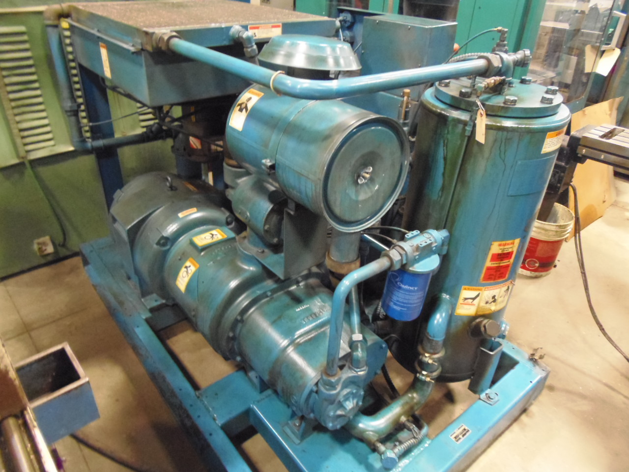 75 HP QUINCY AIR COMPRESSOR, ROTARY SCREW, MODEL Q350