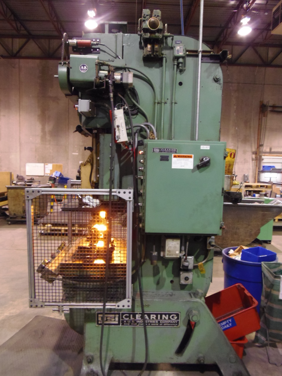 "60 TON - USI CLEARING (TORC-PAC), O.B.I. PRESS, 4"" STROKE, 60 SPM, 3"" ADJUSTMENT, 17 1/4"" SHUT HEIGHT, 1973"
