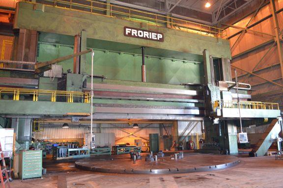"""SCHIESS FRORIEP 590.55"""" VTL, CNC VERTICAL BORING MILL, SIEMENS 840D CNC CONTROL, 1999"""