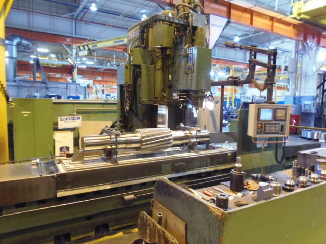 """K&T DATAMILL 700, 2006 RETROFITTED WITH  FANUC 21iM CONTROL, FANUC DRIVES, FANUC MOTORS, EMERSON SPINDLE DRIVE, 28 x 118 TABLE, 92"""" X, 23.6 Z, 19.7 Y, 30 HP, BEAUTIFUL"""