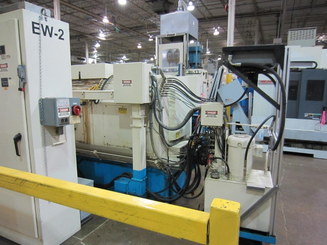 "22"" X 43"" SENECA FALLS, MODEL EW75, 2 HEAD, FANUC POWER MATE CONTROL, 2001, 25 HP, 10 - 1750 RPM, 2001"